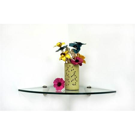 Pelican Corner Glass Shelf (14 in. W x 14 in. D (7 lbs.)) ()
