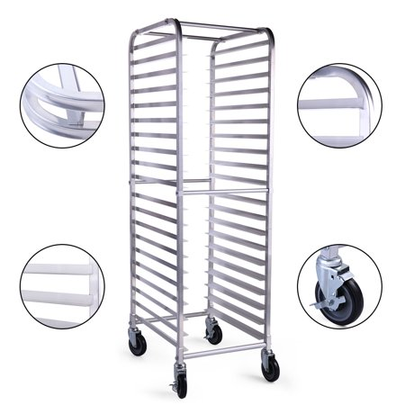 Decorating Bakers Rack (Jaxpety 20 Sheet Bun Pan Bakery Rack Commercial Kitchen 26 by 20 by 70-Inch )