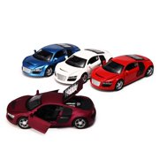 1:32 Scale Model Car Toys, Alloy Diecast Vehicles Truck Toy Car with Sound & Light , Mini Vehicle Model Toy Cars Kids Gift for Boys and Girls Christmas Birthday Presents