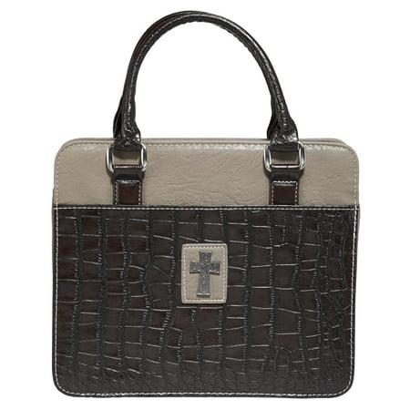 Croc Satchel Bag - BC Croc Purse Style W/ Cross Br/TN Lg (Other)