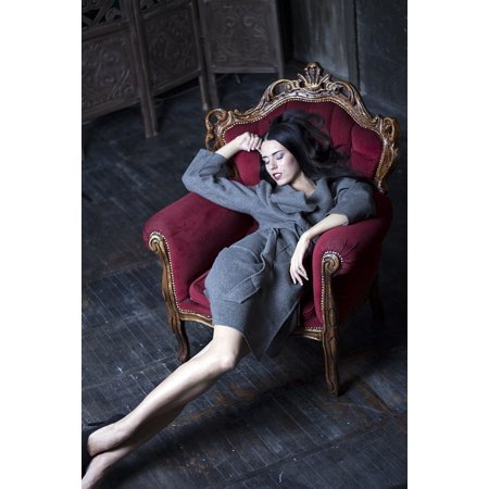 Canvas Print Beauty Armchair Model Woman Legs Furniture Stretched Canvas 10 x