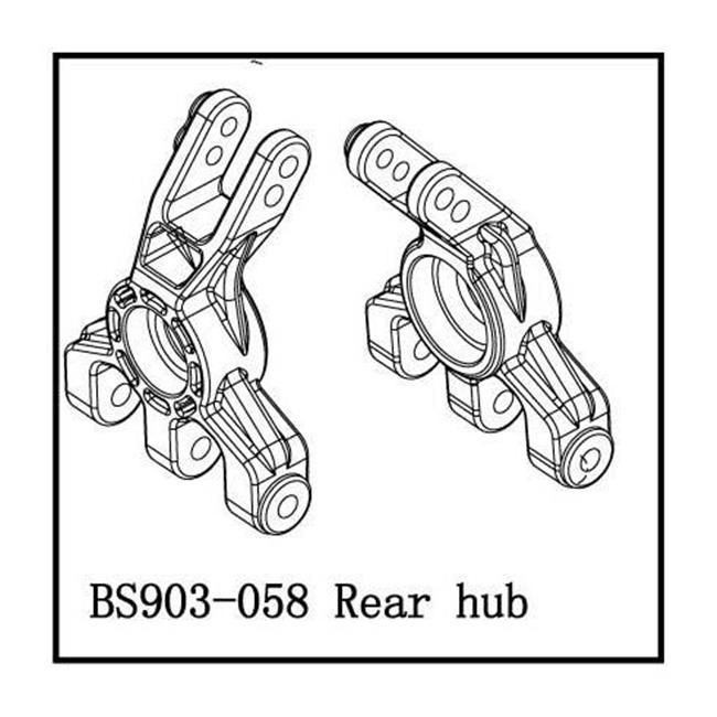 Redcat Racing BS903-058 Hub Rear Carrier