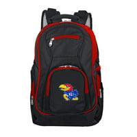 NCAA Kansas Jayhawks Premium Laptop Backpack with Colored Trim