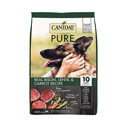 Canidae Grain-Free Pure Land with Bison Limited Ingredient Diet Adult Dry Dog Food, 10 - Canidae Grain