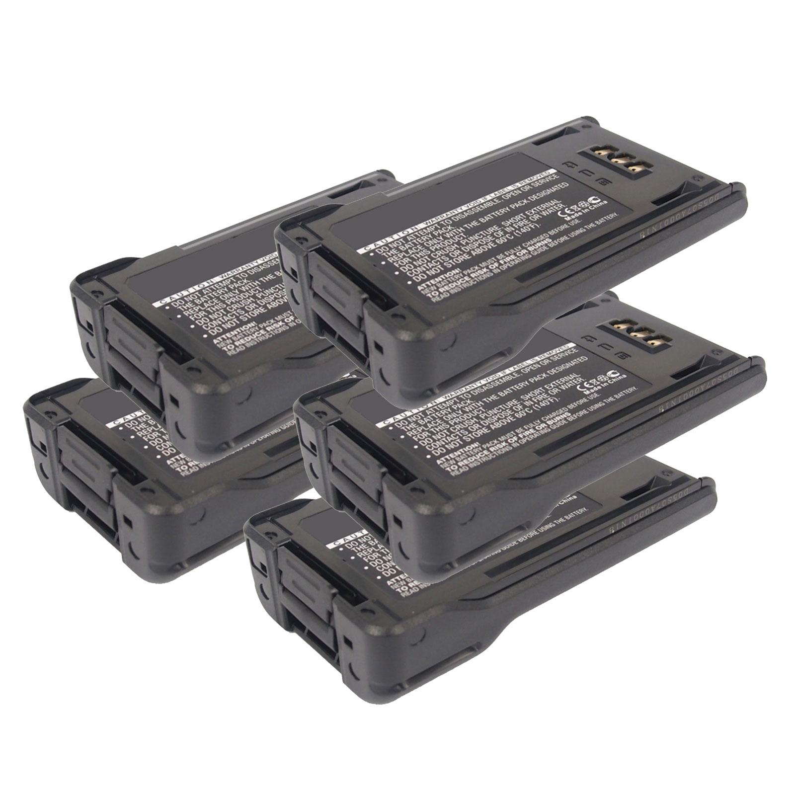 5X 7.4V 2500mAh Li-Ion FRS 2way Radio Battery Fits Kenwoo...
