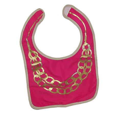 Two's Company Modern and Hip Baby Novelty Gift Bib (Gold Chains) (Novelty Companies)