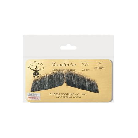 Human Hair Gentlemans Moustache Mustache Facial Hair Costume Accessory (Moustaches For Sale)