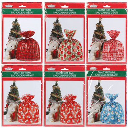 Great BIG Christmas Gift Bags for Great BIG Presents! Plus Bonus Tie Cord Ribbon & To/from Gift Tag! Set of 6Set of 6 - 36x44 Christmas House®.., By Christmas - Bags For Presents