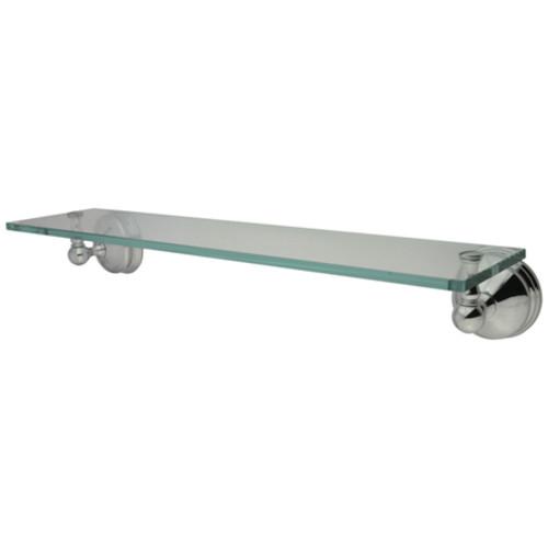 Brushed Nickel 19-5//8 Length Kingston Brass Elements of Design EBAH8649SN Rio Glass Shelf 19-5//8 Length
