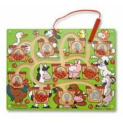 Melissa & Doug Magnetic Wand Number Maze (Developmental Toys, Wooden Activity Board, Develops Multiple Skills)