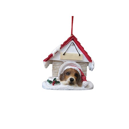Beagle Doghouse Ornament Hand Painted and Easily Personalized