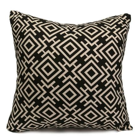 Meigar 18''X18'' Single Print Geometry Pillowcase Linen Cotton Square Shaped Decorative Pillowslip Throw Pillow Cover Case Car Sofa Bedroom Home Decor