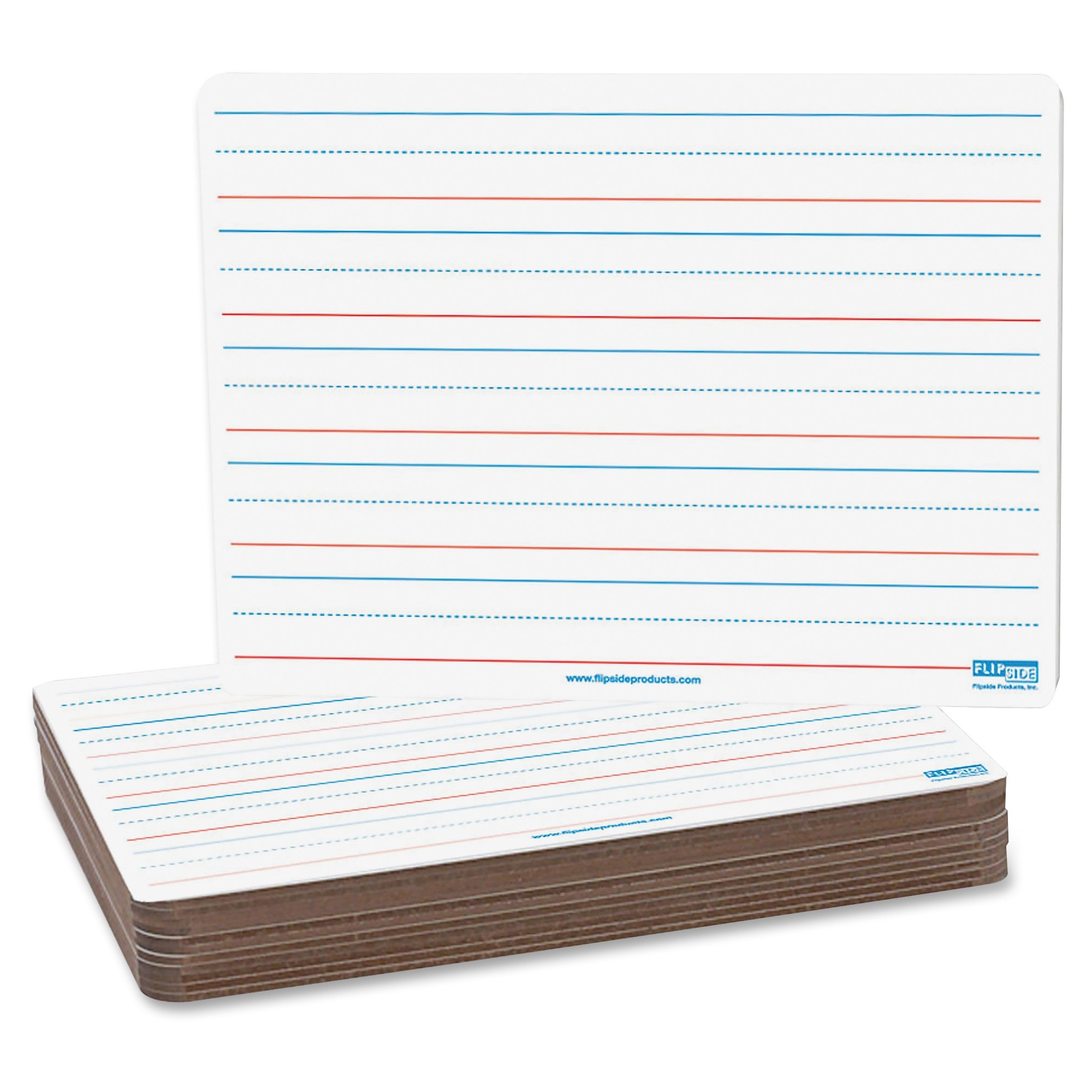 "Flipside 2-sided Magnetic Dryerase Board Pack - 9"" [0.8 Ft] Width X 12"" [1 Ft] Height - White Surface - Rectangle - 12 / Pack (flp-10176)"