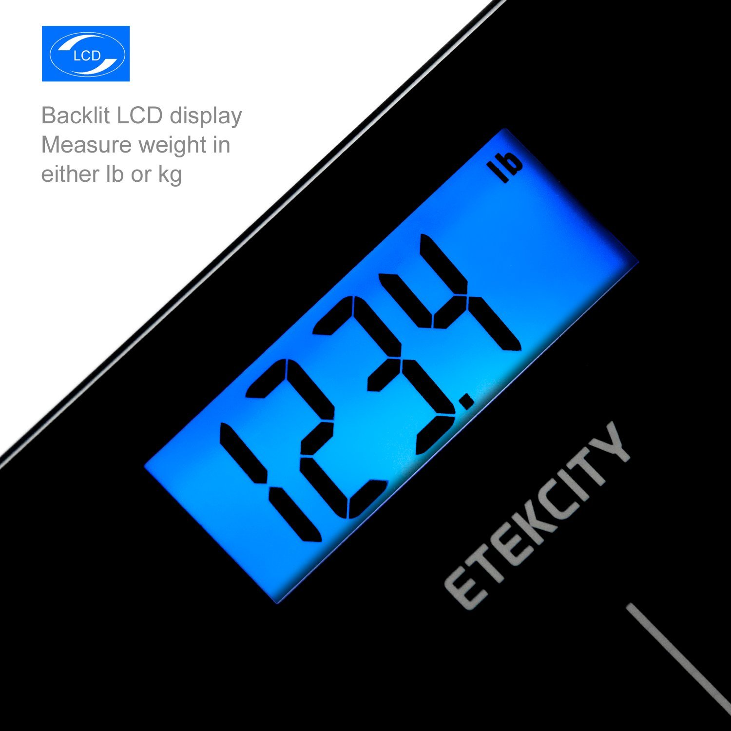400 Pounds, Etekcity Digital Body Weight Bathroom Scale with Step-On Technology