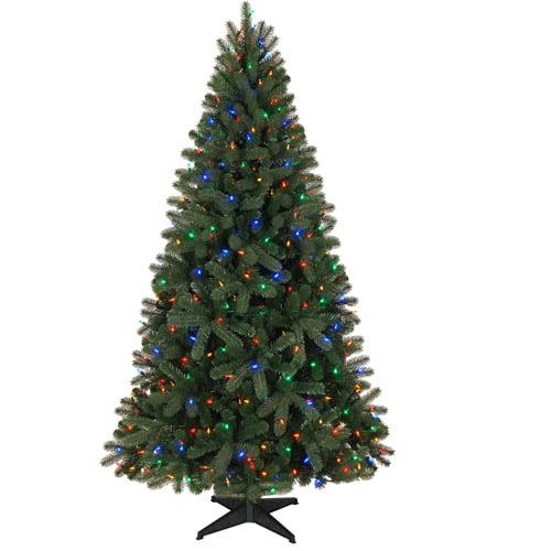 Holiday Time Pre-Lit 6.5' Boston Artificial Christmas Tree ...