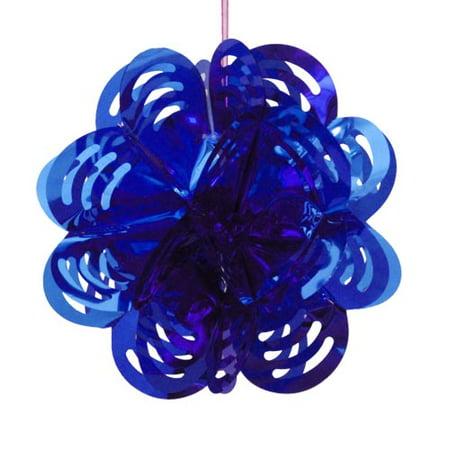 Navy Foil - Dark Blue Foil Flower Decorations