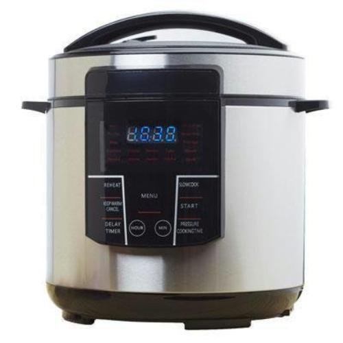 Brentwood Epc-626 Cooker - 1.50 Gal - Black, Stainless Steel (epc-626)