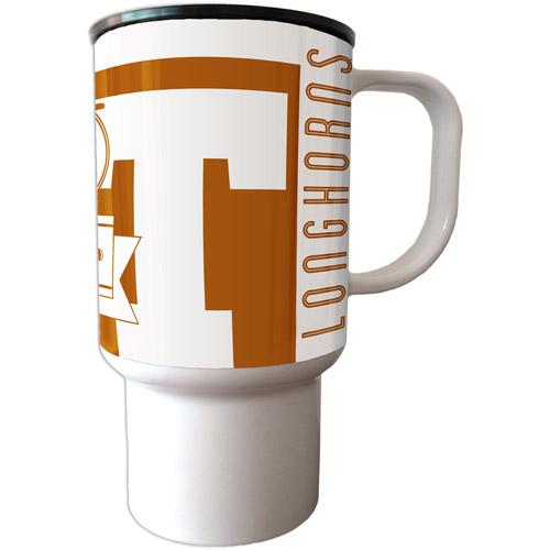 NCAA Texas Longhorns Double Insulated 15-oz Travel Tumbler with Lid & Handle