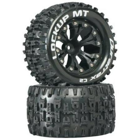 Duratrax Lockup MT 2.8 Truck 2WD Mntd 1/2 Offset C2 Tires (2-Piece), Black ()
