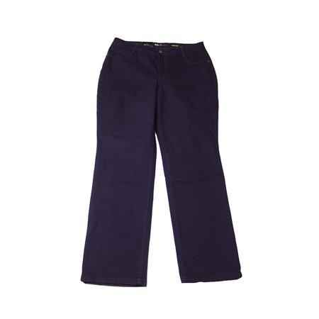 5b2cec41a82 Styleco - Style   Co. Denim Plus Size Dark Grape Slim-Leg Jeans 18W ...