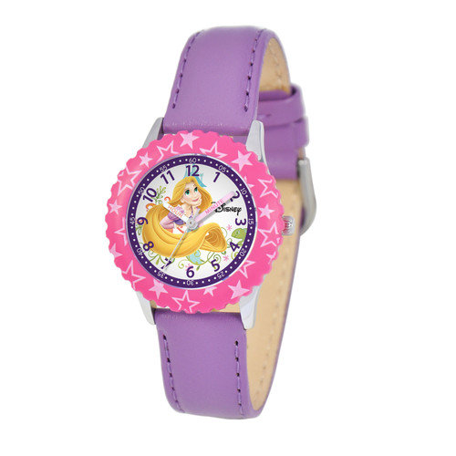 Disney Watches Kid's Rapunzel Time Teacher Watch in Purple