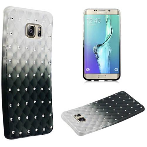 Mundaze Black Gradient Spot Diamond Phone Case Cover for Samsung Galaxy S6 edge+