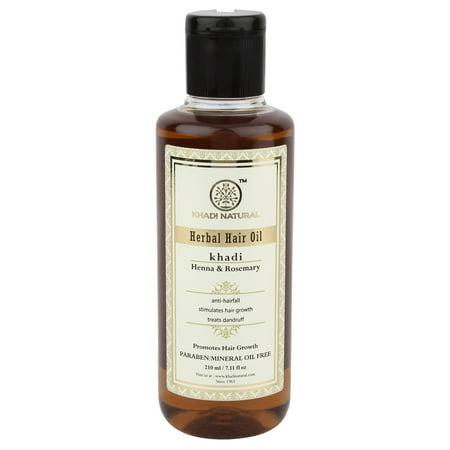 Khadi Natural Rosemary And Henna Hair Oil, 210ml