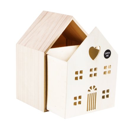 Darice Unfinished Wood House with Cabinet: 7.5 x 10 inch ()