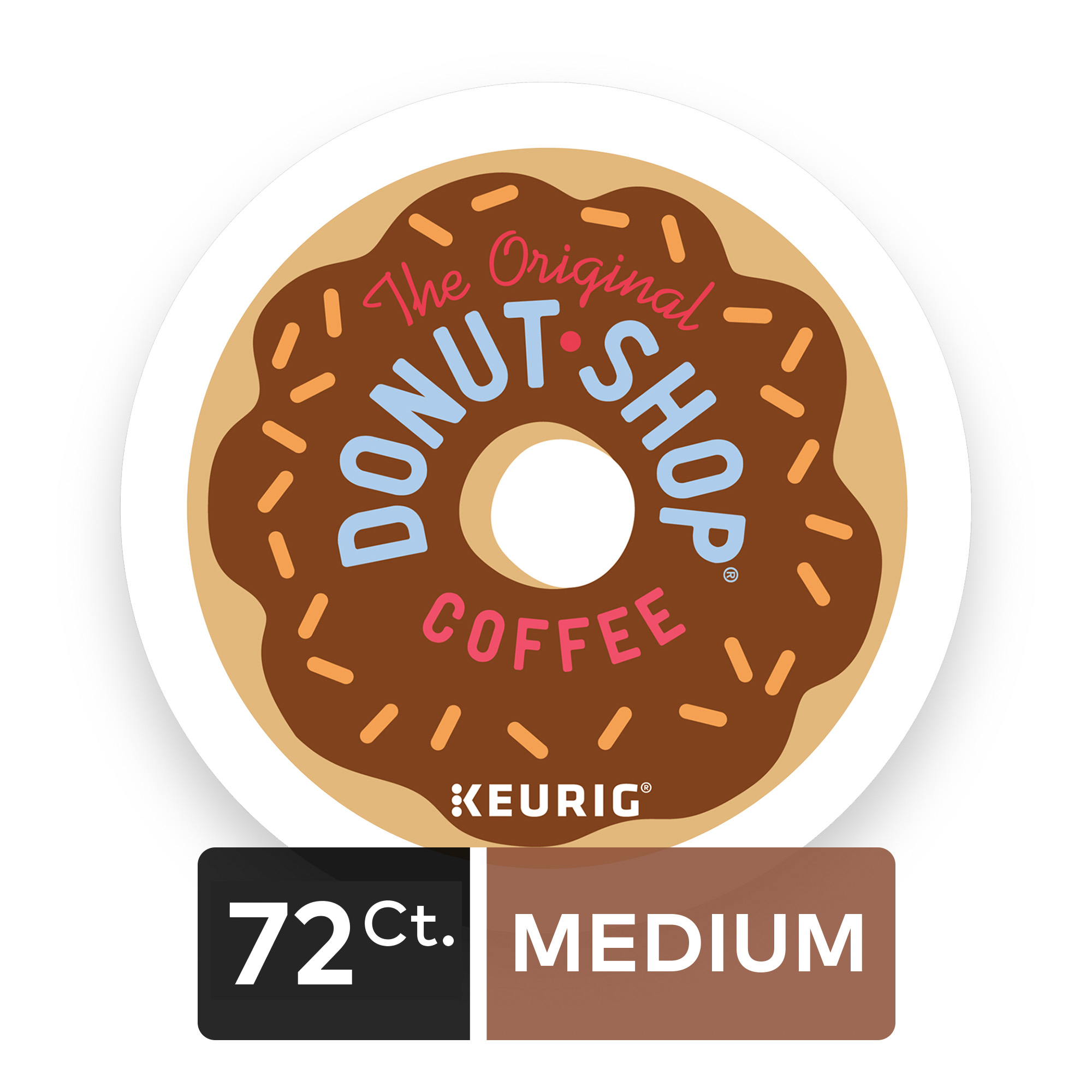 (4 Pack) The Original Donut Shop Regular, Coffee Keurig K-Cup Pods, Medium Roast, 18 Count