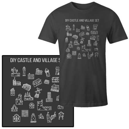 Men's Do it Yourself DIY Castle Village Medieval Starter Kit Funny T-Shirt](Cheap Medieval Clothing)