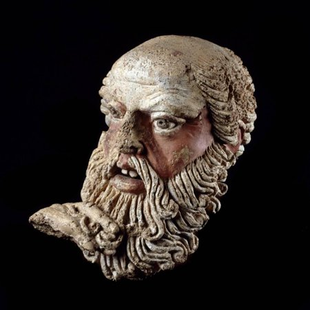 Etruscan Art : Head of a Bald Old Man Print Wall Art - Bald Old Man