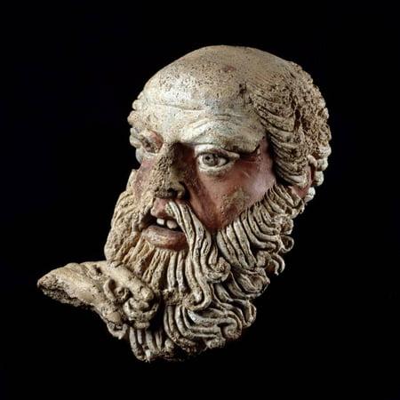 Etruscan Art : Head of a Bald Old Man Print Wall Art](Bald Old Man)