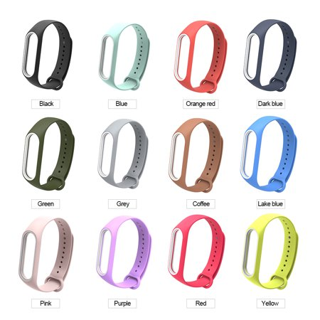 Replacement Wrist Strap for Xiao-Mi Band 3/4 General TPU Wristband (With reinforcement-ring) Green - image 5 de 5