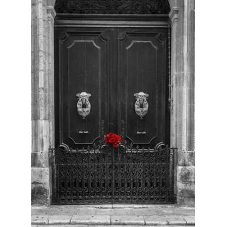 Maltese Rose - Bunch of roses on door of a house in Mdina Malta Poster Print by  Assaf Frank