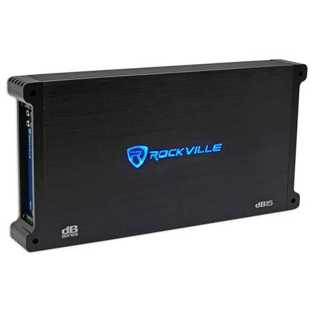 Rockville 3000w Mono Amplifier Amp For 44DL7S122 Dual 12