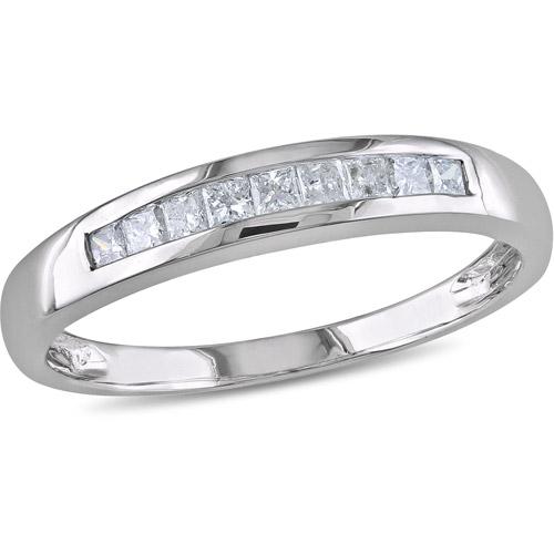 1/4 Carat T.W. Princess-Cut Diamond Semi-Eternity Ring in 10kt White Gold