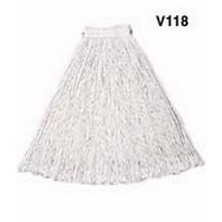 Rubbermaid Commercial Products V119 32 oz. Economy Cotton Mop Heads, White 32 Ounce Rayon Mop
