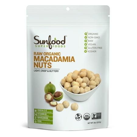 Sunfood Superfoods Organic Macadamia Nuts, 8.0