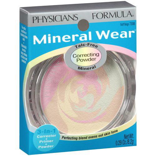 Physicians Formula Mineral Wear Mineral Correcting Powder, Buff Beige 7308, 0.29 oz