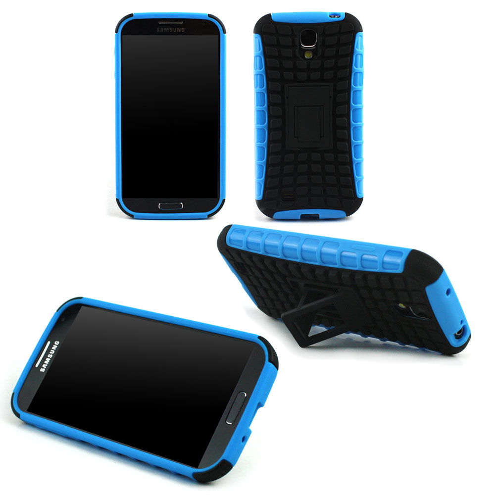 JAVOedge Blue Active Armor Case with Built In Kickstand and Cut Outs for the Samsung Galaxy S4