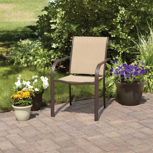 - Mainstays Stacking Sling Chair, Dune - Walmart.com