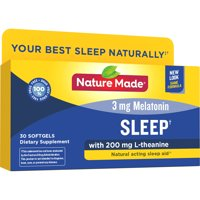 Nature Made Sleep Softgels, 30 Count for Supporting Restful Sleep