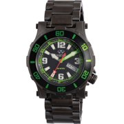 Reactor Unisex Atlas Midsized Dive Stainless Steel Case and Bracelet Black Dial Black Watch - 45509