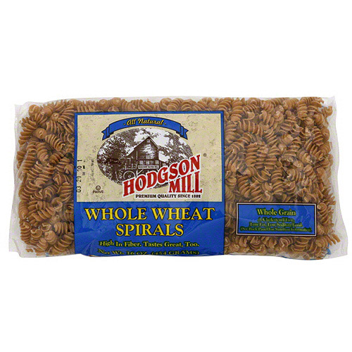 Hodgson Mill Whole Wheat Spiral Pasta Noodles, 16 oz (Pack of 12)