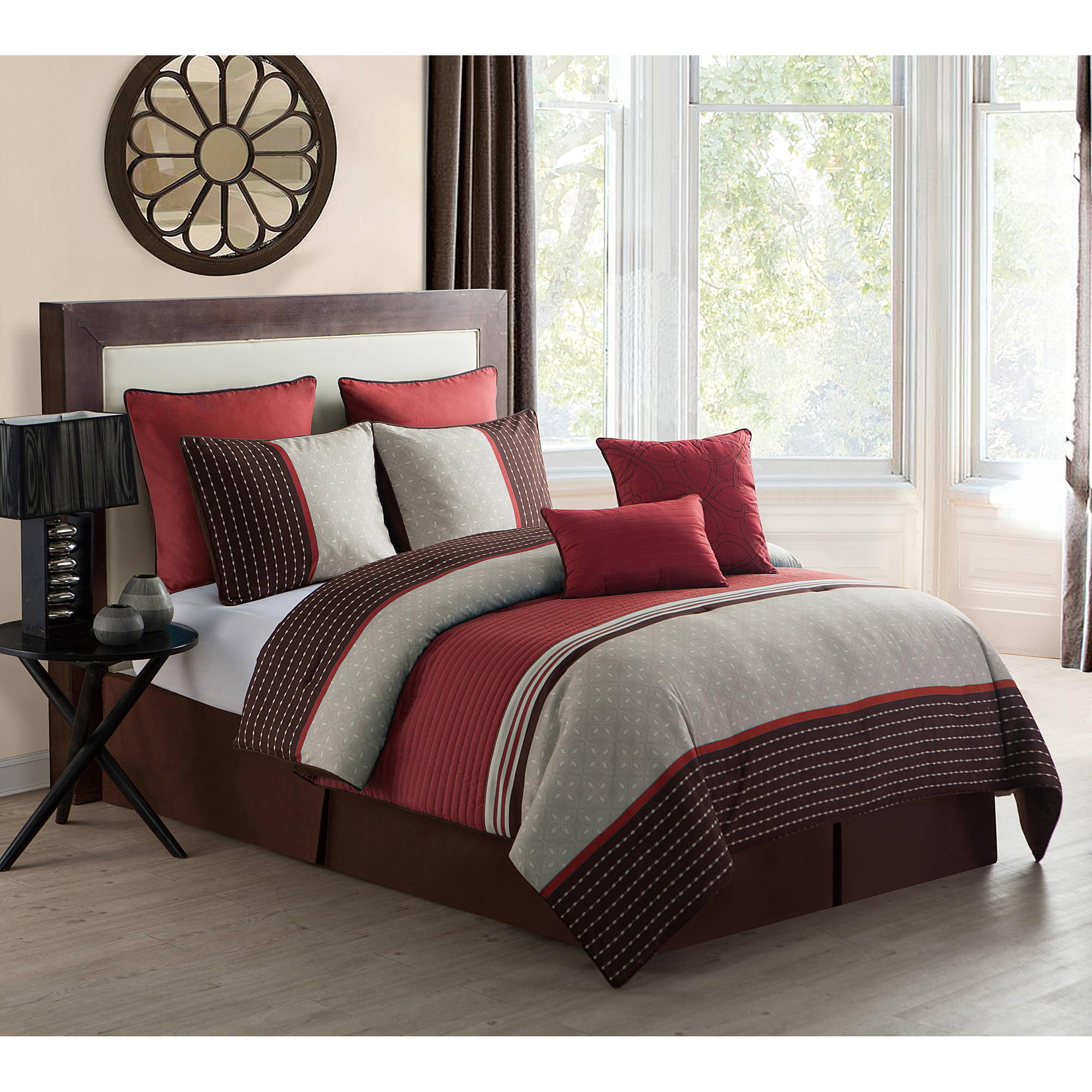 Seville 8-Piece Bedding Comforter Set, Euro Shams included