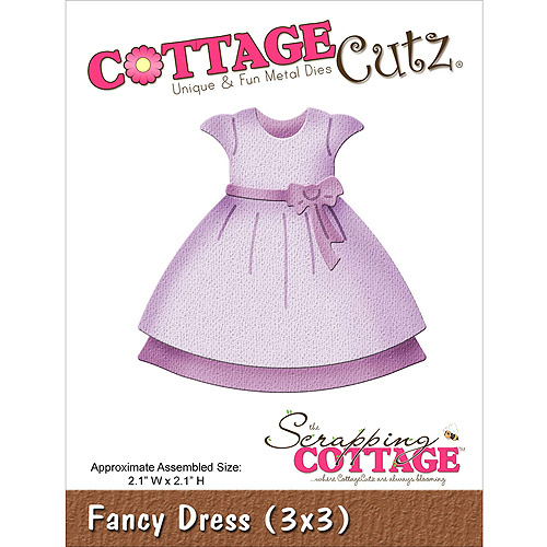 "CottageCutz Die, 3"" x 3"", Fancy Dress"