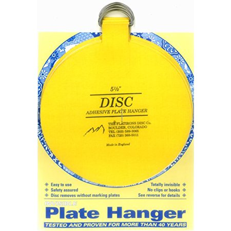 Plate Hanger Set Adhesive Totally Invisible Safety Extra Large 4-5.5 Inches ()