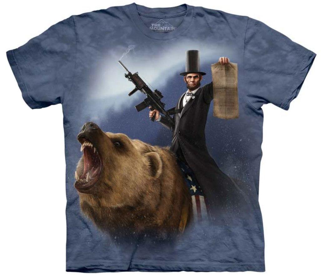 The Mountain Blue 100 Cotton Lincoln The Emancipator T Shirt