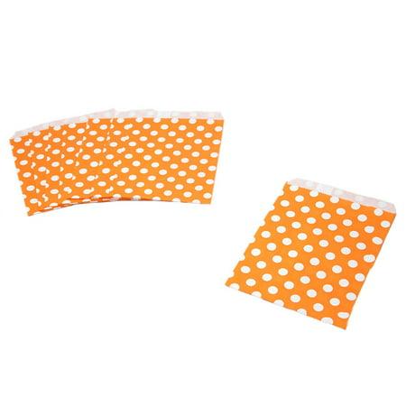 Orange Polka Dot Paper Treat Bags (Basketball Treats)