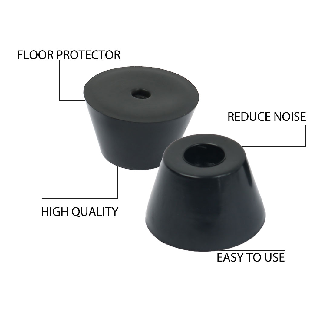 9pcs Rubber Feet Bumpers Furniture Sofa Desk Amplifier Speaker Cabinet Leg Pads Protector D47x32xH29mm - image 2 of 7